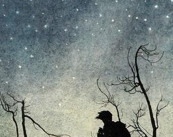 The Stars,  Arthur Rackham, Vinatge Art Print