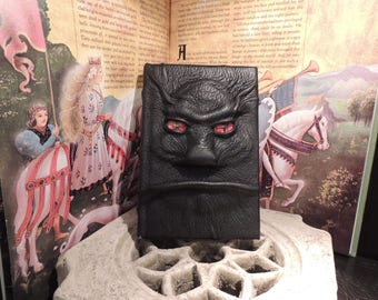 Mythical Beast Book (The Imp-Black leather with Red eyes)