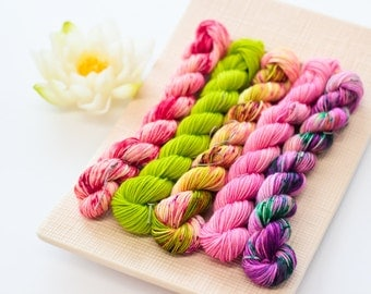Cloud Sock - Spring Speckled mini skeins - Colour Adventures (fibers: merino, Cashmere, nylon)
