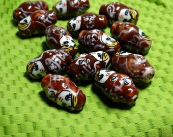 Russian Nesting Doll Beads - Brown