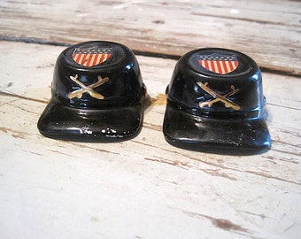 Civil War Cap Salt and Pepper Shakers