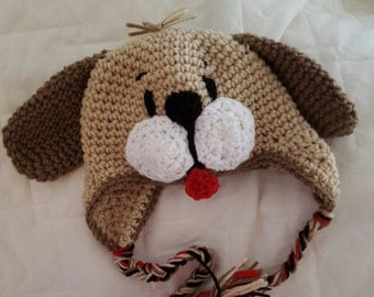 Puppy Hat Crocheted /Photo Prop/ Newborn to 4T/cbbcreations
