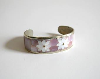 Pink Abalone Cuff Bracelet