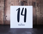 14 And Fearless Birthday Card - 14th Birthday Card - Personalised Teenager Birthday Card - Fourteenth Birthday Personalized Cards