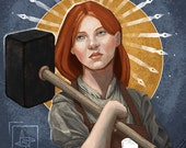 Art Print of Brigid - pagan Celtic Goddess of Smithing, Poetry and Midwifery