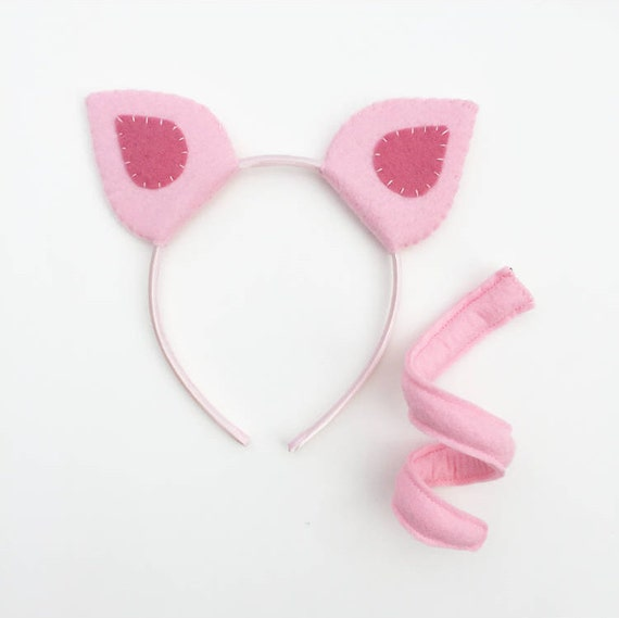 Wool felt pig ears headband bendy tail pronofoot35fo Images