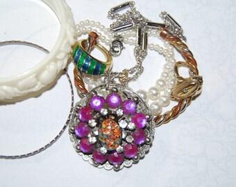 Jewelry Lot Destash For Wear Vintage Sets Rhinestones Deco Bracelets Rings Necklaces Pendants