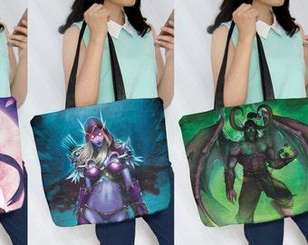Sylvanas, Illidan, Genji Tote Bags