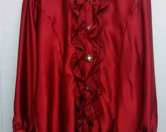 Vampire Gothic Men Red Shirt
