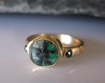 emerald ring etsy