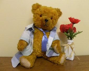 "Vintage Hermann Bear 18"" - 1950's Teddy Bear - Growling Bear from Germany"