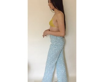 High Waist Retro Daisy Pants