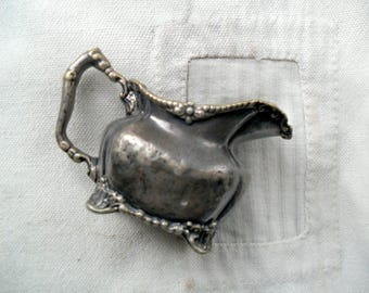 Vintage Small Silver Creamer, Hotel Silver, Silver Pitcher, The Ten Eyck Silver