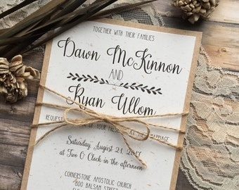 Rustic Wedding Invitation, Vintage Wedding Invitation, Elegant Wedding Invitations, Whimsical Wedding Invitations, Barn Wedding Invitation