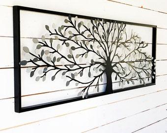 Gray Home Decor,Baby Boy Nursery, Gray Nursery,Grey Wall Art, Gray Wall Metal, Grey Kitchen Tree Of Life,Grey Living Room Decor, New Home