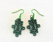 Celtic Knot Earrings St Patricks Day Earrings