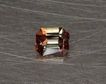 Andalusite Loose Natural Small and Petite Pleochroic Gemstone Faceted in a Modern Designer Modified Emerald Cut