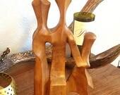 Vintage Mid Century Teak Abstract Sculpture- Custom listing for Santanu.