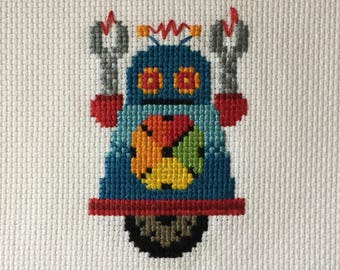Colorwheel Cross Stitch Robot with Matte