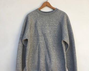 Vintage Tultex Heather Grey Pullover Sweatshirt XL