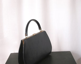 1950's Gorgeous Ladylike Handbag  in Dark Navy Blue