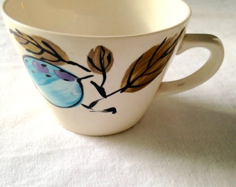 Vera Neumann coffee/ tea cup,  Forbidden Fruit Pattern Cup, 1970's Vera Cup