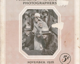 Kodakery November, 1928- 1920s Antique Booklet- Amateur Photographers Magazine- Eastman Kodak Photography- Paper Ephemera