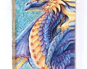 Purple Gold Dragon Pendant