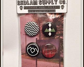 """Twin Peaks 1"""" Button Set"""