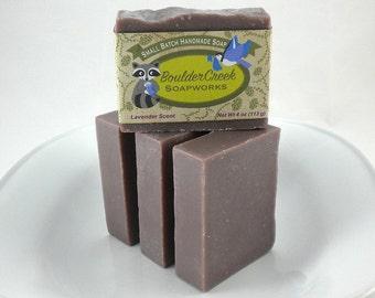 Lavender Soap with Purple Brazilian Clay