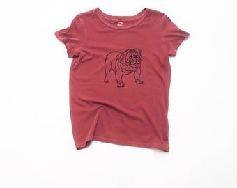 My Faithful Bulldog Tee, Dog Lover, Dog Shirt, Yoga Tee, S,M,L,XL