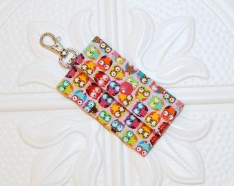 Owl Chapstick Holder - Lip Balm Holder - Chapstick Cozy - Lip Balm Cozy - Chapstick Keychain Holder - USB Holder
