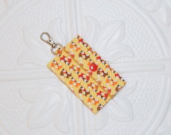 Fox Yellow Lip Balm Holder - Chapstick Cozy - Lip Balm Cozy - Chapstick Keychain Holder - USB Holder