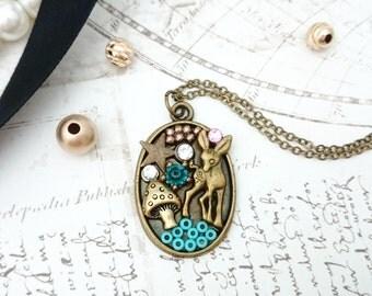 Deer Necklace - Deer Pendant