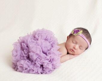 newborn pettiskirt, purple newborn tutu, lilac tutu, lavender pettiskirt, infant tutu, girls tutu, baby tutu, baby pettiskirt, newborn tutu