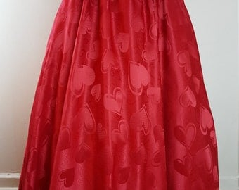 Queen of Hearts Ball Skirt - One Size Fits Most