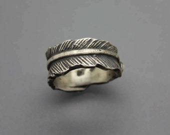Feather Ring| Sterling Ring| Cremation Ring| Cremation Jewelry| Silver Cremation Jewelry| Memorial Ring| Memorial Jewelry| Ring with ash