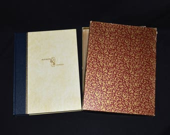 Imperial Collection of Audubon Animals - The Quadrupeds of North America - Fine 1/2 Leather Binding w/ Slipcase - Vintage Book w/ Extras!