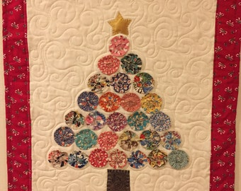 Vintage Christmas Tree Wall Art Quilt