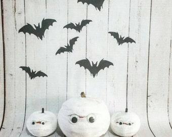 Mummy Mini Pumpkin Set of 3