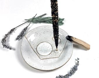 White Incense Holder Ceramic Catchall Dishes