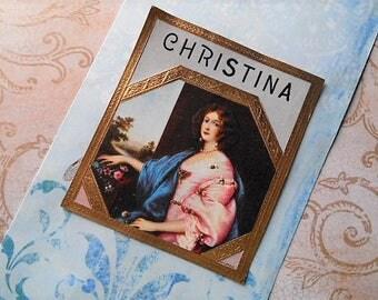 Pretty Original Outer Cigar Box Label Christina