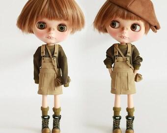 Pre-order - Missyo 2017 Winter & Spring - Bib Skirt for Blythe doll - Beige