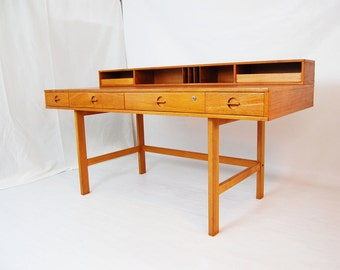 SALE: Danish Modern Flip Top Teak Desk by Peter Lovig-Nielsen