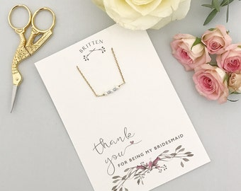 Thank you for being my bridesmaid bracelet, Thank you for being my bridesmaid gift