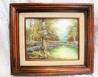 Oil Painting- Conti - Original Signed Framed Landscape