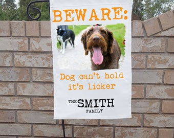 Funny Personalized Dog Yard Flag