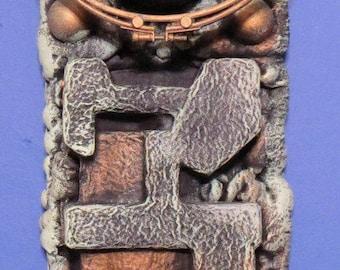 Dystopian Faux Bronze Original Wall sculpture by TW Klymiuk
