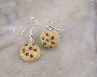 Miniature Scented Tiny Chocolate Chip Cookie Polymer Clay Earrings