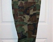 "Vintage Men's Camouflage Pants Military Issue Medium SHORT Adjustable Waist 31-35"" Only 10 USD"